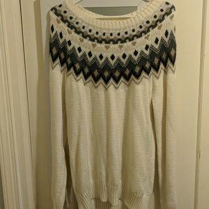 Old Navy Fair Isle Sweater Tunic L